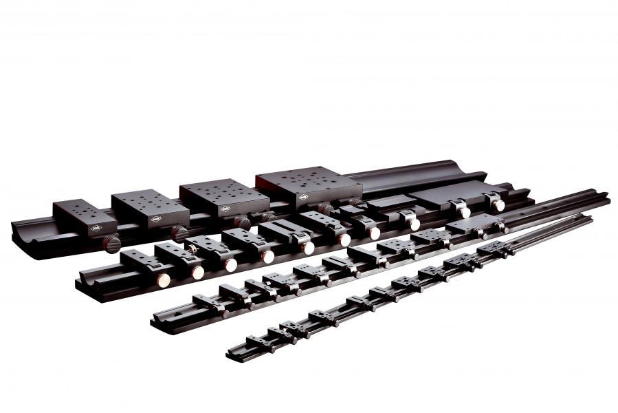 Accessoires de banc optique : rails, profilés et cavaliers SYS 40